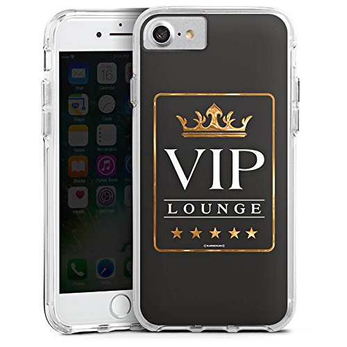 Apple iPhone X Bumper Hülle Bumper Case Glitzer Hülle Vip Lounge V.I.P Luxus Bumper Case transparent