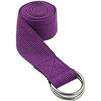 Atommy Bandas de Yoga de Algodón Yoga de Cuerda Retráctil Versátil Yoga Yoga o Cuerda (185 cm 2 en 1) (Púrpura)