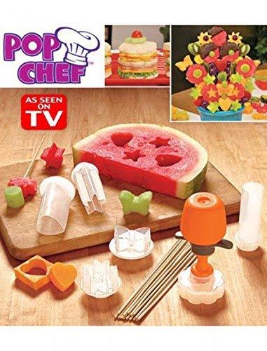 Ndier Pop Chef, Werkzeuge und Formen zum Ausstechen und Ausschneiden, Obstschneider für Lebensmittel und Salatdekorationen