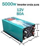 Inverter 5000w Inversor Onda Pura Del Seno DC 12V to AC 230V+LCD+Cargador 80Amp