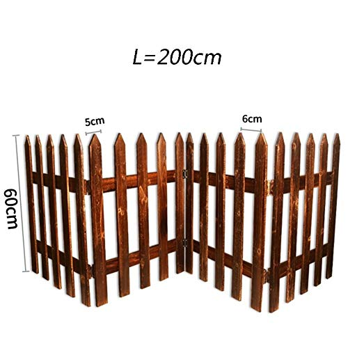 WXQ Gartenzaun Siebanlage Barrier Pflanzenschutz feuchtigkeitsfest Karbonisierung Korrosionsbeständig, 10 Größen, Stützkunden (Color : Brown, Size : 200X50CM)