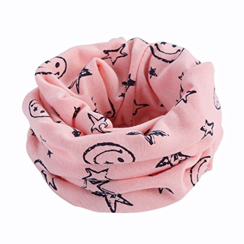 Kolylong® Koreanische Version von Kinderhalskragen Netter Winter-Halstuch Neue Multicolor Kinder warme Baumwollschal (Rosa)