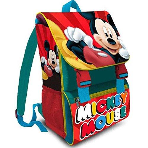 Kit Scuola 3 in 1 School Promo Pack Zaino Estensibile + Astuccio 3 Zip Accessoriato + Ombrello Salvaspazio Disney MICKEY MOUSE...