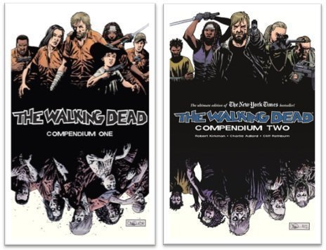 The Walking Dead Compendium ONE & TWO Set (WALKING DEAD): (WALKING DEAD Volume 1 & 2) by Robert Kirkman (The Walking Dead)