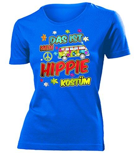 Hippie Kostüm Damen T Shirt Karneval Fasching Motto Schlager Party Verkleidung Schlagerkleidung Mottoparty Deko Schlagerfan Hemd Schlagerkleid
