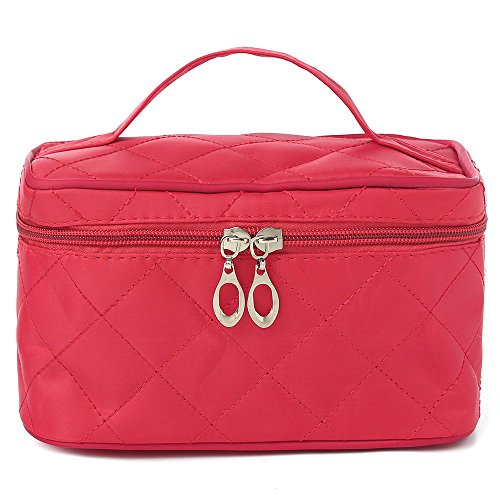 UberLyfe Cosmetic Bag cum Travel Organizer - Perfect for Weddings- Rose (1152-ROSE)