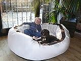 tierlando® LA4-05 LANA Hundesofa Hundebett VELOURS MEGA DICK gepolstert Gr. L 100cm CREME - 4