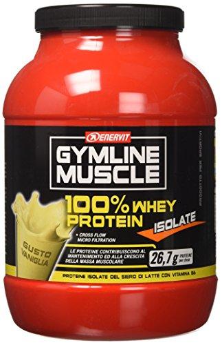 Enervit GY MLine Muscle Whey 100% Protein Isolate Integratore Alimentare per lo Sport, Gusto Vaniglia - 700 gr