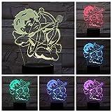 Luz De Noche 3D Cupido Arco Y Flecha (Interruptor Táctil) 3D Led Usb 7 Niños En Color, Mesita De Noche, Bebé, Lámpara De Mesa, Dormitorio, Lámpara, Fiesta, Niño, Niña, Regalo