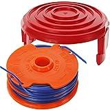 Spares2go Dual tagliabordi rocchetto + kit di copertura tappo per Qualcast GT25GGT3503GGT350A1trimmer