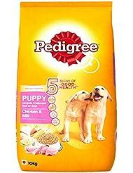 Pedigree Puppy Dog Food, Chicken and Milk, 10 kg pack