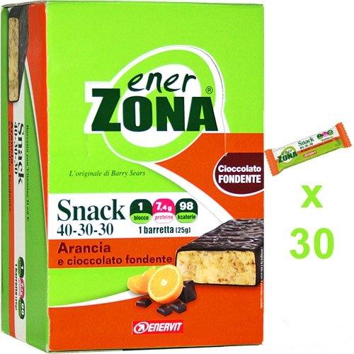 enerZONA bar Snack arancia cioccolato fondente box da 30 - 515gAng9nuL