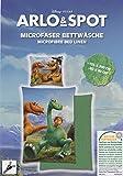 ARLO & SPOT Mikrofaser Bettwäsche 80x80 / 135x200 cm Disney The Good Dinosaur (grün)