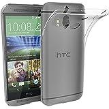 HTC One M8 Funda, iVoler TPU Silicona Case Cover Dura Parachoques Carcasa Funda Bumper para HTC One M8, [Ultra-delgado] [Shock-Absorción] [Anti-Arañazos] [Transparente]- Garantía Incondicional de 18 Meses