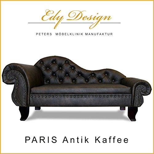 Hundesofa Chesterfield Recamiere PARIS XXL Antik Kaffee Hundebett Chaiselongues - 2
