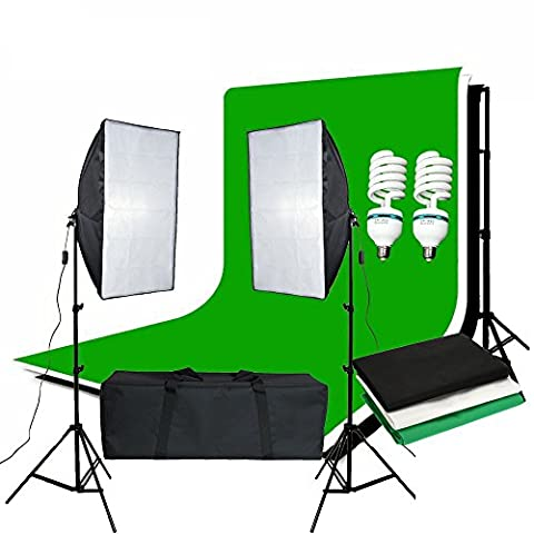 BPS 1250W Pro Photography Continuous Lighting Kit 50 x 70cm