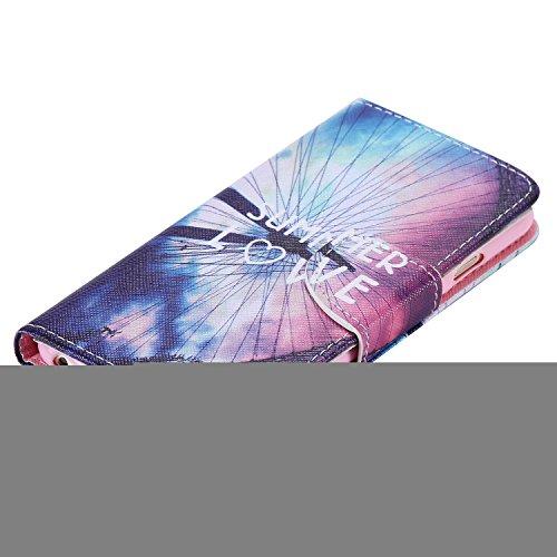 """Ooboom® iPhone 6S/6 4.7"""" Hülle Flip PU Leder Schutzhülle Handy Tasche Case Cover Wallet Standfunktion mit Kartenfächer für iPhone 6S/6 4.7"""" - Anker Welle Riesenrad"""