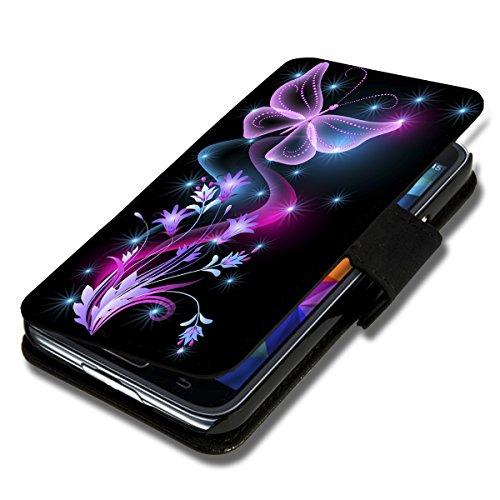 Preisvergleich Produktbild Book Style Flip Handy Tasche Case Schutz Hülle Schale Motiv Foto Etui für HTC One Mini 2 - X12 Design6