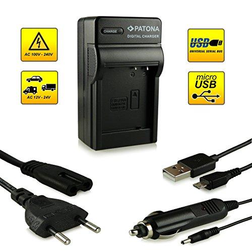 Neuheit - 4in1 Ladegerät mit micro USB Anschluss · 100% kompatibel mit DMW-BLG10 DMW-BLG10E Akkus für Panasonic Lumix DMC-GF6 | Lumix DMC-GX7 und weitere...