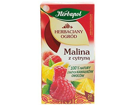 Herbapol Himbeere mit Zitrone Tee /// Herbaciany ogrod Malina z cytryna 100% natury z duzych kawalkow owocow. (Zitronen-kräuter-tee)