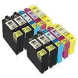 DOREE 10er Pack Ersatz für Epson 35XL T35XL T3591 T3592 T3593 T3594 Tintenpatronen Kompatibel mit Epson WorkForce Pro WF-4740DTWF WF-4730DTW WF-4720DW WF-4725DW Drucker (2 Sätze + 2 Schwarz)