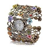 Damen Armreif gold mit Uhr und Applikationen Preisknaller