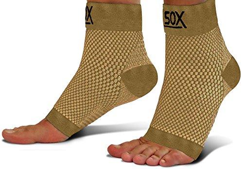 SB SOX Kompression Fuß für die Herren und Damen-Beste Plantarfasziitis Socken für Fersensporn Schmerzlinderung, Ferse Schmerzen, und Behandlung für den täglichen Gebrauch mit Arch Support, Nude - Arch Socken