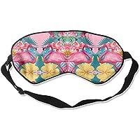 Summer Flamingos Natural Silk Sleep Mask Comfortable Smooth Blindfold for Travel, Relax preisvergleich bei billige-tabletten.eu