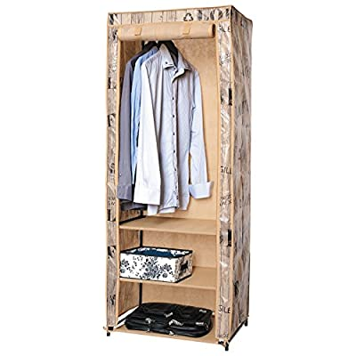 ArtMoon Loft Canvas Wardrobe Foldable Water Repellent Cover 61x45x155cm Painted Steel/Plastic/Polyester - cheap UK light shop.