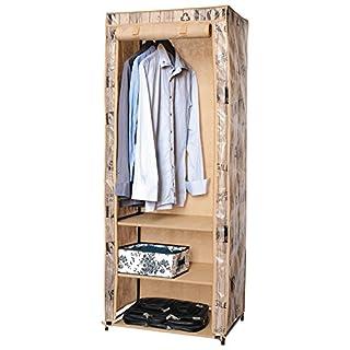 Tatkraft ArtMoon Loft Kleiderschrank Garderobenschrank Faltschrank mit Wasserabweisend Stoff 61x45x155cm Lackierter Stahl/Kunststoff/Polyester