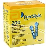 Freestyle Glucosa En Sangre Sistema De Vigilancia, calibre 28estériles lancetas (200)–1