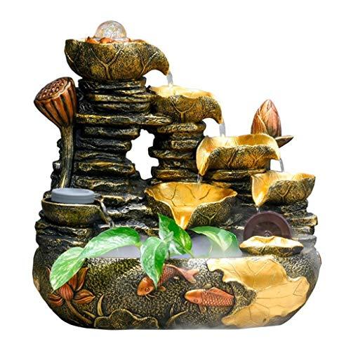Cascading Rock (Xinxinchaoshi Cascading Rock Falls Desktop-Springbrunnen mit Zerstäubungsbefeuchter, 14