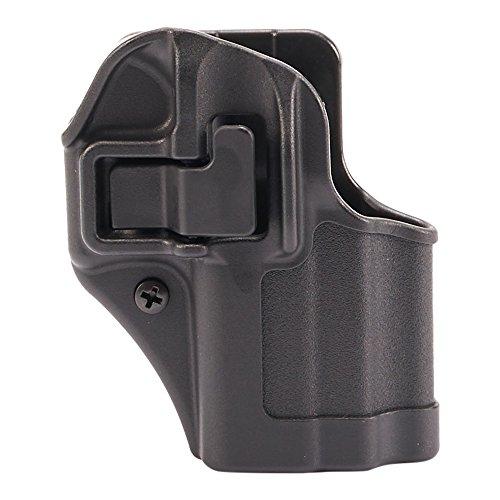 Blackhawk. Serpa CQC Holster, Matt, Unisex, 410568BK-R, Schwarz, Size 68 - Glock 43 (Tactical Blackhawk Holster Cqc)