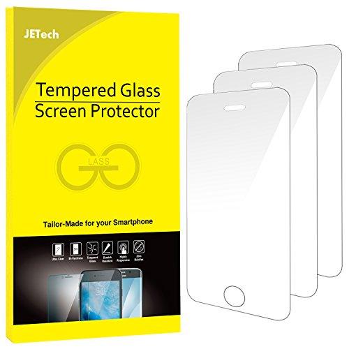 Galleria fotografica JETech 0318 - Pacco da 3 Pellicole Protettive in Vetro Temperato per iPhone SE/5s/5c/5