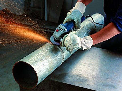 Bosch Professional Winkelschleifer GWS 7-125 (Zusatzhandgriff, Aufnahmeflansch, Spannmutter, Schutzhaube, Zweilochschlüssel, Karton, Scheiben-Ø: 125 mm, 720 Watt) - 4