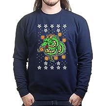 Mens Dragon Christmas Xmas Ugly Sweater Sweatshirt