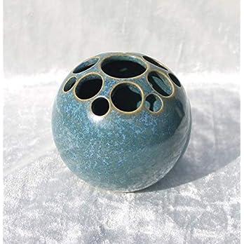 Kugelvase Steckvase Keramik Handarbeit 9 cm