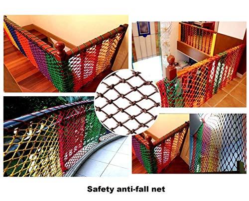 Wlh Schutzseilnetz, Kindertreppe Balkon Trampolin Schaukel Bruchsicheres Netz Sicherheitsnetz Schutznetz Dekorationsnetz (Größe: 4 Mm Seil 15 cm Loch) (Farbe: Braun) (Size : 1 * 5m)