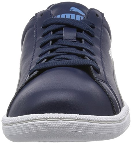 Puma Unisex-Erwachsene Smash Leather Low-Top Blau (peacoat-blue heaven 16)