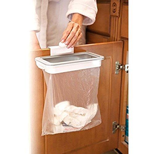 Display08colgar papelera cubo de basura basura, cesta de cocina para puerta de armario talla única...