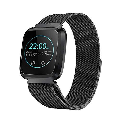 AUTOECHO Smart Watch Tracker Fitness con cardiofrequenzimetro, Sleep Tracker attività Monitor con IP68 per Bambini Donna Uomo, Smartwatch Bluetooth con Pressione sanguigna per Samsung Android iOS