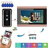 XH Campanello Video Intelligente 7 Pollici WiFi Cablato/Wireless Citofono Videocitofonico RFID Sistema di Controllo Accessi Sicurezza Domestica Telecamera per Visione Notturna Supporta iOS/Android