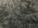 Teddy glatt, Plüsch, Flauschstoff, ca.150cm, (mars-grau)