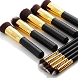 Agm-10-Pcs-Professional-Handle-Cosmetic-Kabuki-Makeup-Foundation-Blending-Brush-Set-Kit.-(Black+Gold)