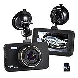Dashcam Sony Sensor FHD 1080P,Auto DVR Armaturenbrett Kamera,Autokamera 3'' LCD 170° Weitwinkelobjektiv,G-Sensor,Nachtsicht,24H Überwachung(16GB SD-Karte inklusive)