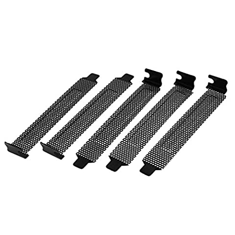 sourcingmap® 5 Pcs Hard Steel Dust Filter Blanking Plate PCI Slot Cover w (Pci Slot Piastra)