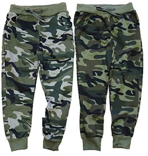 Unbekannt 2er Pack Jungen Camouflage Jogginghosen in den Größen 98-188 (158-164)