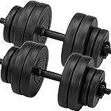 C.P. Sports Set pesi manubri, manubri Set di manubri 30kg 2x manubri con dischi