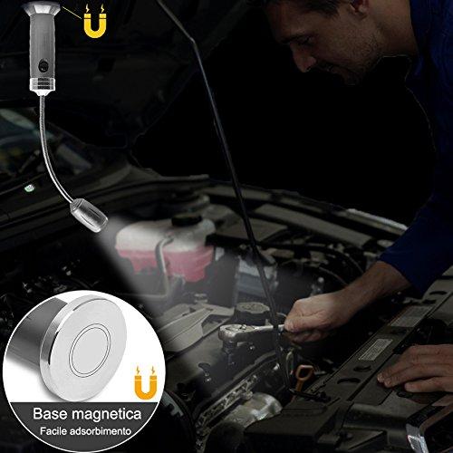515gKVzB7fL - LANUCN LED Grilllicht/Magnetfuß 360 Grad einstellbar BBQ Licht/Einstellbarer Fokus Zoom Licht Lamp / IP44 Wetterbeständig Outdoor Grill Licht/Grillzubehör lichtlampe
