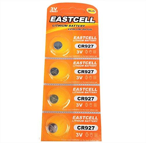 EASTCELL 4 x CR927 3V Lithium Knopfzelle 30 mAh (1 Blistercard a 4 Batterien) EINWEG Markenware